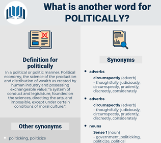 politically, synonym politically, another word for politically, words like politically, thesaurus politically