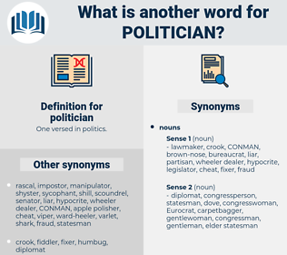 politician, synonym politician, another word for politician, words like politician, thesaurus politician