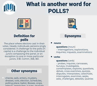 polls, synonym polls, another word for polls, words like polls, thesaurus polls