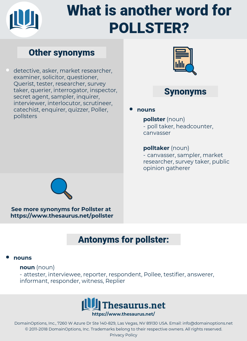 pollster, synonym pollster, another word for pollster, words like pollster, thesaurus pollster