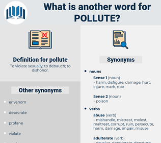 pollute, synonym pollute, another word for pollute, words like pollute, thesaurus pollute