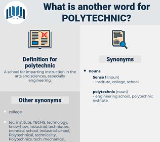 polytechnic, synonym polytechnic, another word for polytechnic, words like polytechnic, thesaurus polytechnic