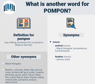 pompon, synonym pompon, another word for pompon, words like pompon, thesaurus pompon