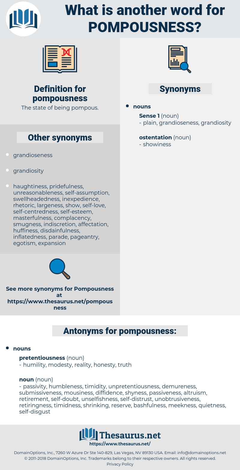 pompousness, synonym pompousness, another word for pompousness, words like pompousness, thesaurus pompousness