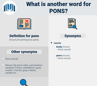 pons, synonym pons, another word for pons, words like pons, thesaurus pons