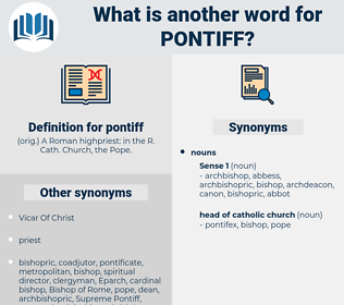 pontiff, synonym pontiff, another word for pontiff, words like pontiff, thesaurus pontiff