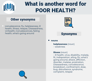 poor health, synonym poor health, another word for poor health, words like poor health, thesaurus poor health