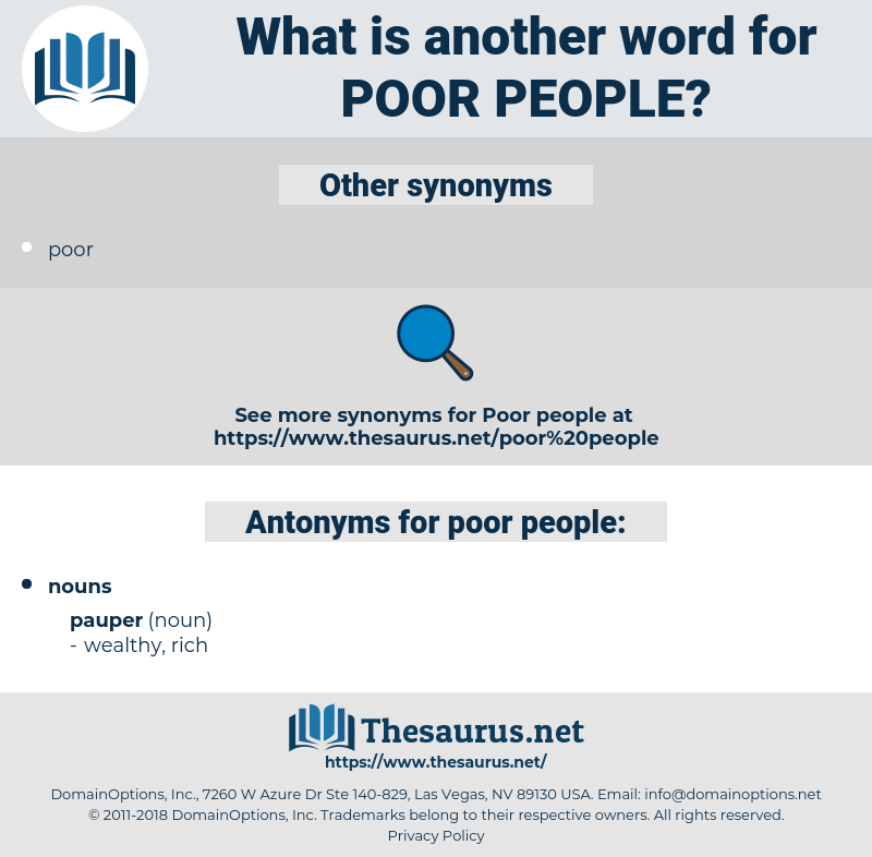 poor people, synonym poor people, another word for poor people, words like poor people, thesaurus poor people