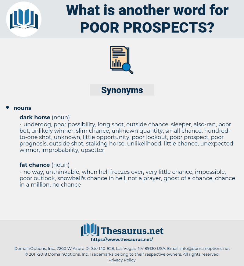 poor prospects, synonym poor prospects, another word for poor prospects, words like poor prospects, thesaurus poor prospects