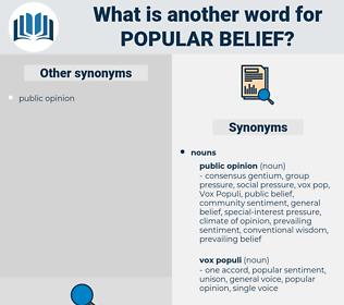 popular belief, synonym popular belief, another word for popular belief, words like popular belief, thesaurus popular belief