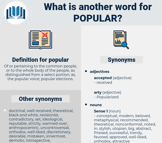 popular, synonym popular, another word for popular, words like popular, thesaurus popular