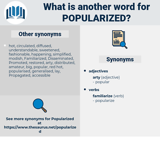 Popularized, synonym Popularized, another word for Popularized, words like Popularized, thesaurus Popularized