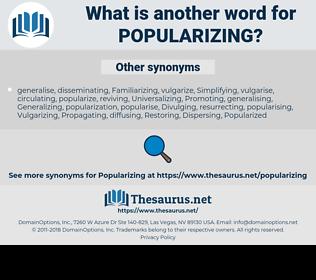 Popularizing, synonym Popularizing, another word for Popularizing, words like Popularizing, thesaurus Popularizing