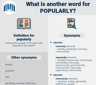 popularly, synonym popularly, another word for popularly, words like popularly, thesaurus popularly
