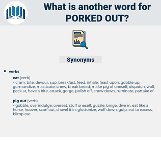 porked out, synonym porked out, another word for porked out, words like porked out, thesaurus porked out