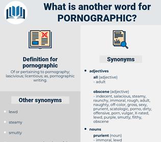 pornographic, synonym pornographic, another word for pornographic, words like pornographic, thesaurus pornographic