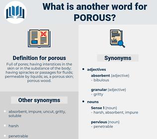 porous, synonym porous, another word for porous, words like porous, thesaurus porous