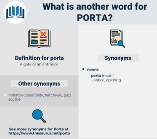 porta, synonym porta, another word for porta, words like porta, thesaurus porta