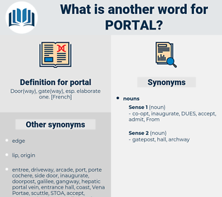 portal, synonym portal, another word for portal, words like portal, thesaurus portal
