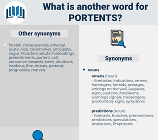 portents, synonym portents, another word for portents, words like portents, thesaurus portents