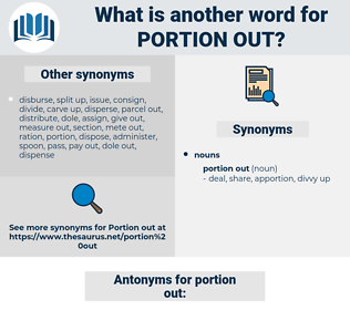 portion out, synonym portion out, another word for portion out, words like portion out, thesaurus portion out