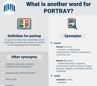 portray, synonym portray, another word for portray, words like portray, thesaurus portray