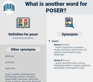 poser, synonym poser, another word for poser, words like poser, thesaurus poser