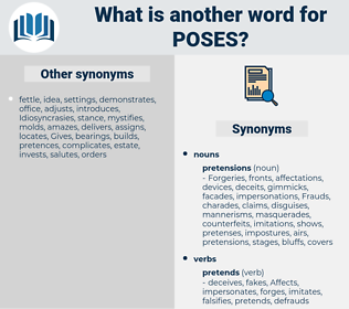 poses, synonym poses, another word for poses, words like poses, thesaurus poses