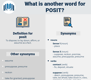posit, synonym posit, another word for posit, words like posit, thesaurus posit