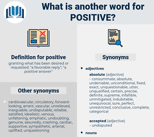 positive, synonym positive, another word for positive, words like positive, thesaurus positive