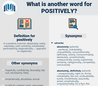positively, synonym positively, another word for positively, words like positively, thesaurus positively
