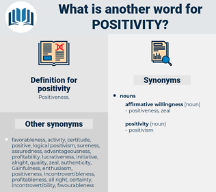 positivity, synonym positivity, another word for positivity, words like positivity, thesaurus positivity