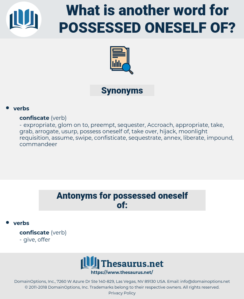 possessed oneself of, synonym possessed oneself of, another word for possessed oneself of, words like possessed oneself of, thesaurus possessed oneself of
