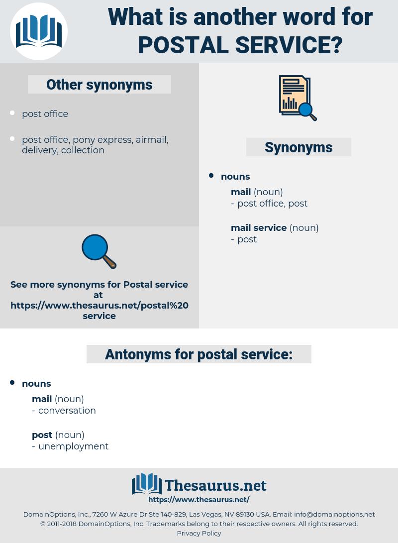 postal service, synonym postal service, another word for postal service, words like postal service, thesaurus postal service