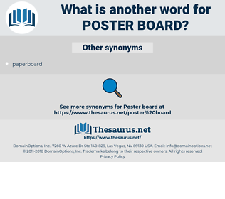 poster board, synonym poster board, another word for poster board, words like poster board, thesaurus poster board