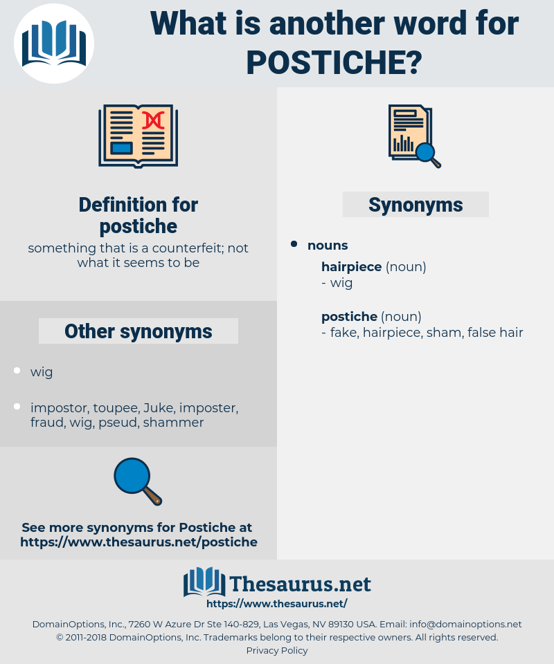 postiche, synonym postiche, another word for postiche, words like postiche, thesaurus postiche