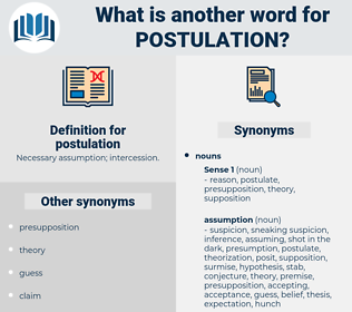 postulation, synonym postulation, another word for postulation, words like postulation, thesaurus postulation