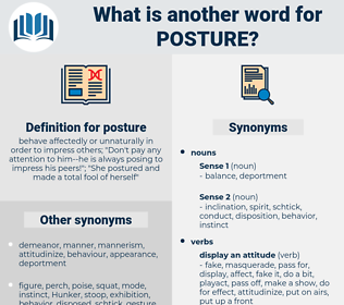 posture, synonym posture, another word for posture, words like posture, thesaurus posture