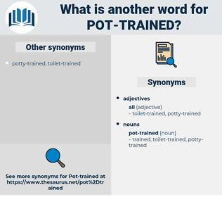 pot-trained, synonym pot-trained, another word for pot-trained, words like pot-trained, thesaurus pot-trained