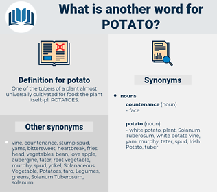 potato, synonym potato, another word for potato, words like potato, thesaurus potato