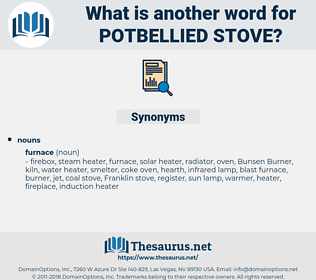 potbellied stove, synonym potbellied stove, another word for potbellied stove, words like potbellied stove, thesaurus potbellied stove