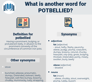 potbellied, synonym potbellied, another word for potbellied, words like potbellied, thesaurus potbellied