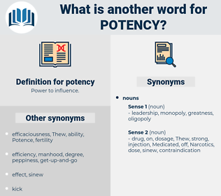 potency, synonym potency, another word for potency, words like potency, thesaurus potency