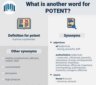 potent, synonym potent, another word for potent, words like potent, thesaurus potent