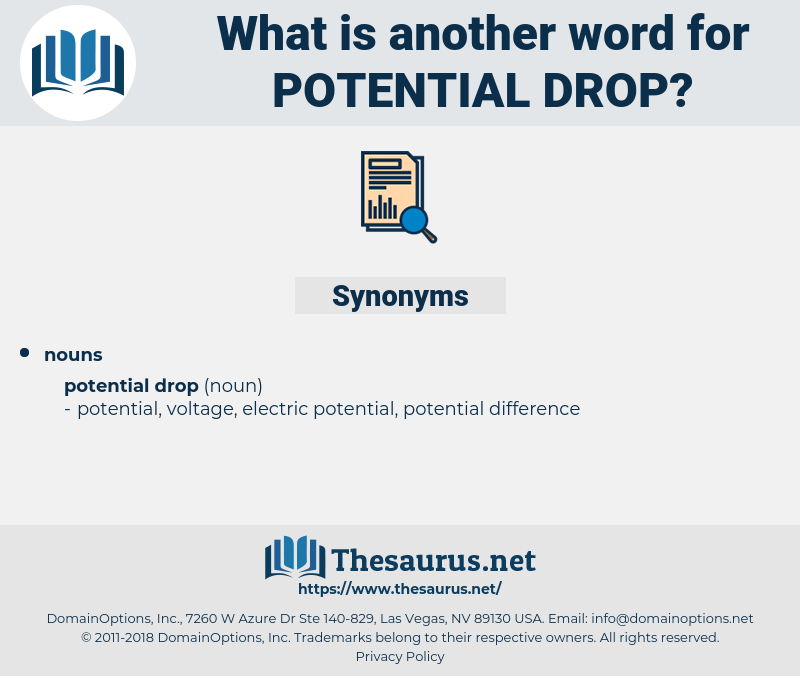 potential drop, synonym potential drop, another word for potential drop, words like potential drop, thesaurus potential drop