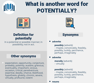 potentially, synonym potentially, another word for potentially, words like potentially, thesaurus potentially