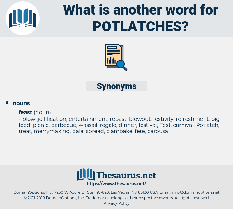 potlatches, synonym potlatches, another word for potlatches, words like potlatches, thesaurus potlatches