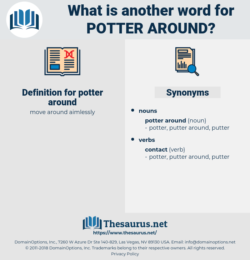 potter around, synonym potter around, another word for potter around, words like potter around, thesaurus potter around