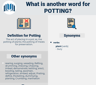 Potting, synonym Potting, another word for Potting, words like Potting, thesaurus Potting