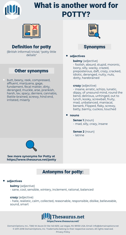 potty, synonym potty, another word for potty, words like potty, thesaurus potty